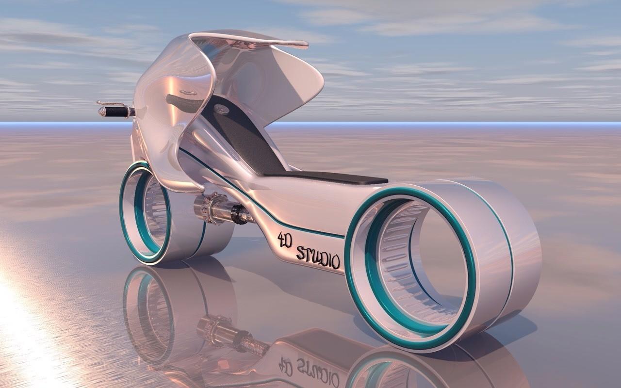 Motorcycle Futurist 4D Studio