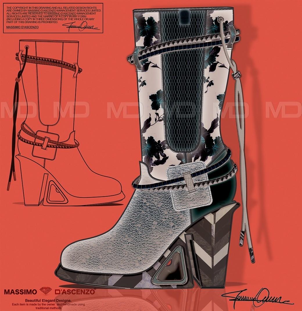 'MD' Massimo D'ascenzo Beautiful Designs. MUMIT FOOTWEAR BY Massimo D'ascenzo. 'MUMIT' - Flowers. Winter Boots. Instagram@massimodascenzo www.massimod.com #luxury#jewellery#handbags#love#fashionAddict. Massimo-Dascenzo-Luxury-Jewellery-Handbags/485052561622939?ref=hlj