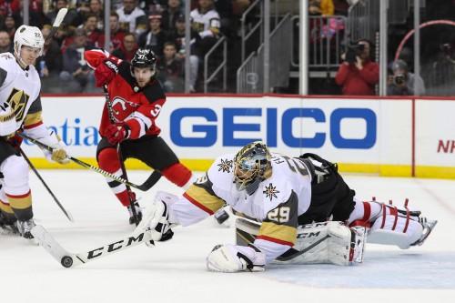 Devils climb out of 3-goal holes, edge Vegas in OT