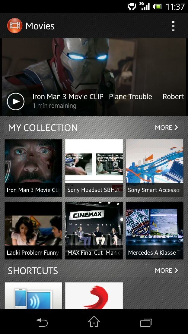 Whole New Movies app in latest update from Sony in Xperia Z...#Sony #XperiaZ