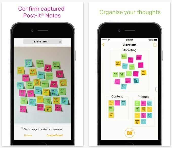 Post-it note app lets you import physical notes into your iPhone or iPad