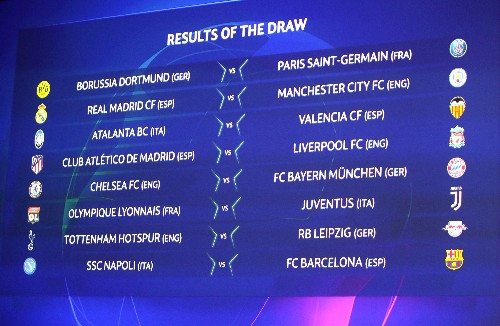 Real Madrid to face Man City, Liverpool meet Atletico
