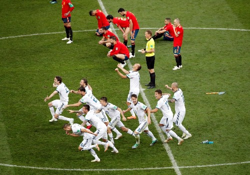 Russia Shocks Spain by Winning Penalty Shootout: Pictures