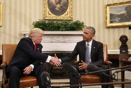 The Latest: Trump looks forward to dealing with Obama