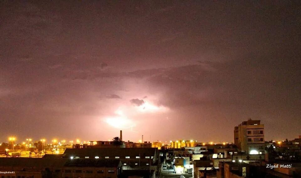 امطار نيسان في بغداد