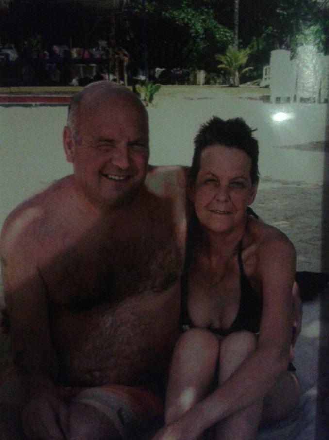 Mum n dad in Jamaica woop