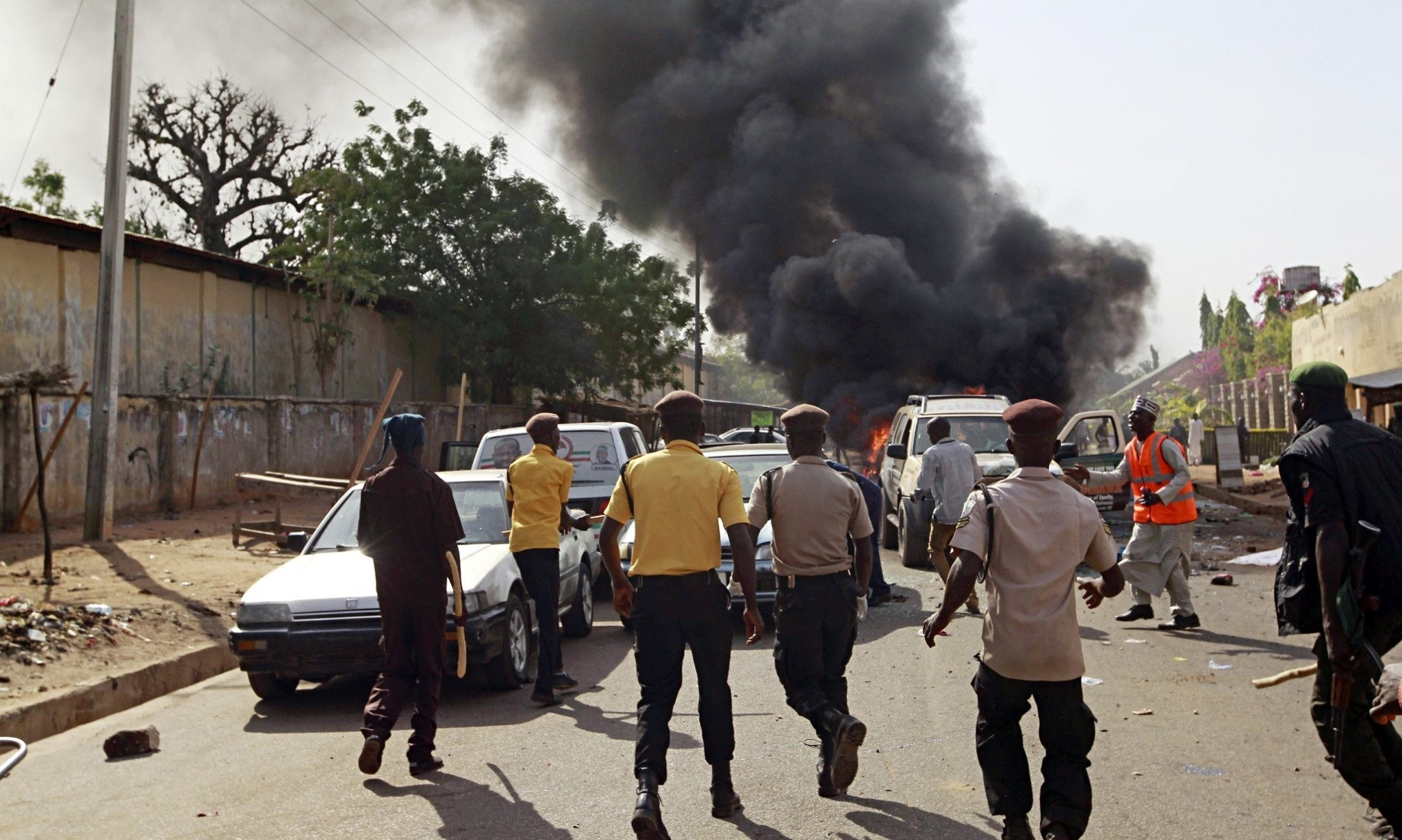 Car bomb attack at Nigerian president's rally in Gombe