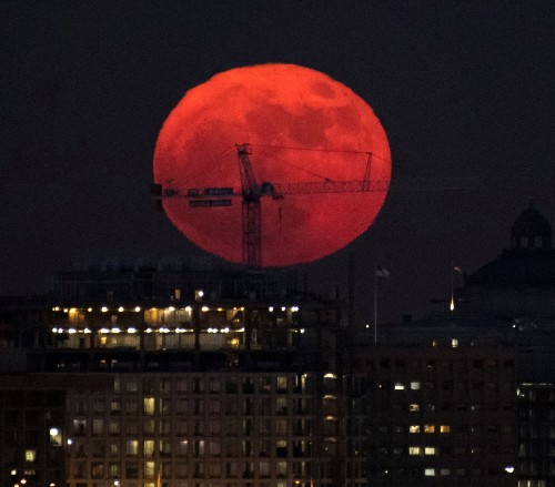 The Last Supermoon of the Year: Pictures