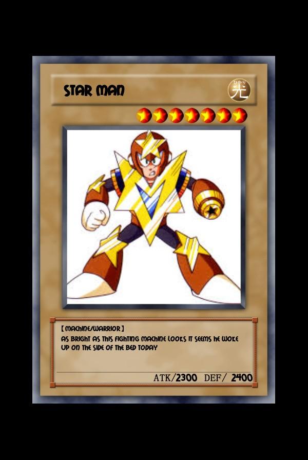 Star man yuigioh card Limited edition