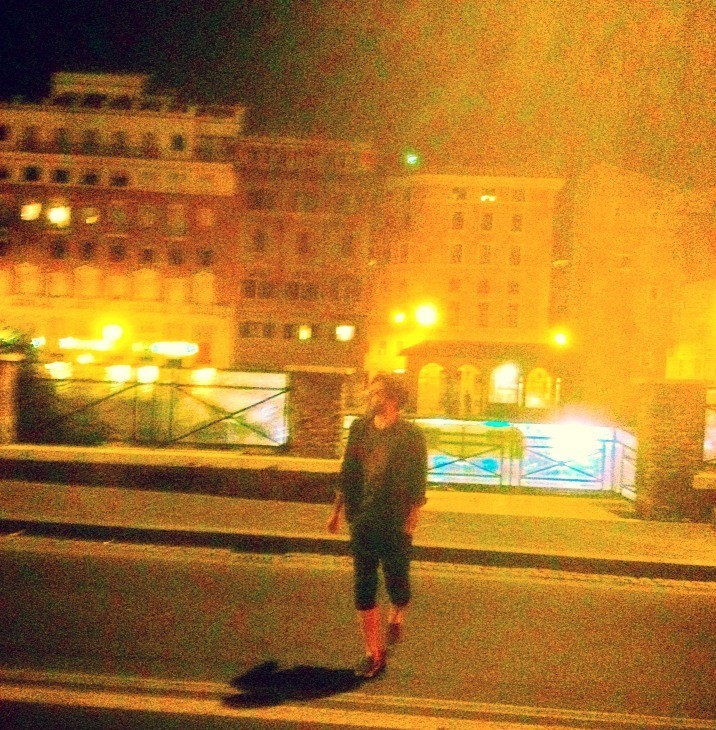 Michelangelo DeSarro showing us the spot where Julius Caesar was betrayed. May 29, 2014