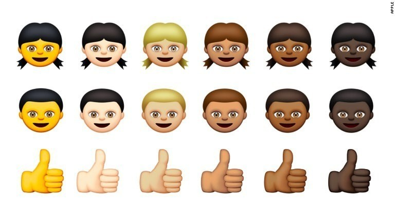Apple's new diverse emoji characters