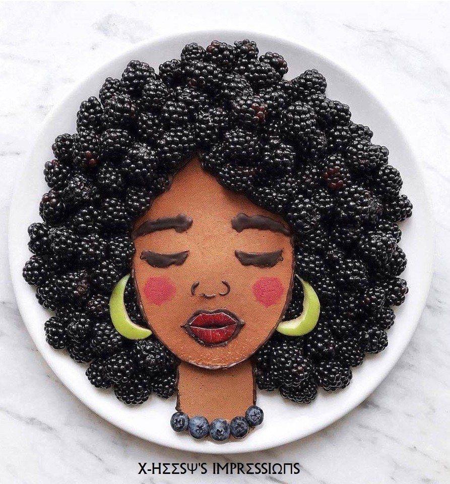 viola 🍇🌸 Beautiful Creative Food Art by Daryna Kossar