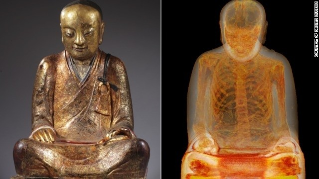 1,000-year-old mummified monk found in statue