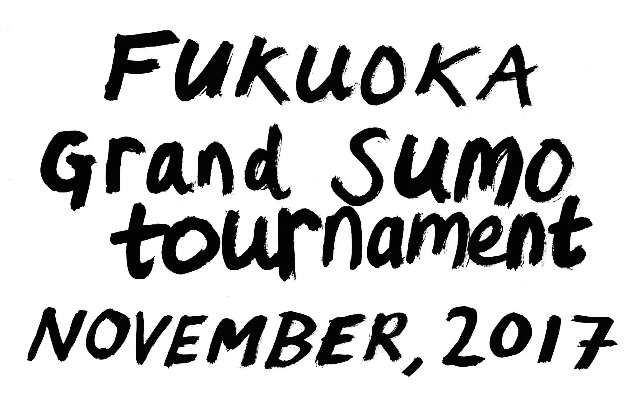 Sketches from a Grand Sumo Tournament