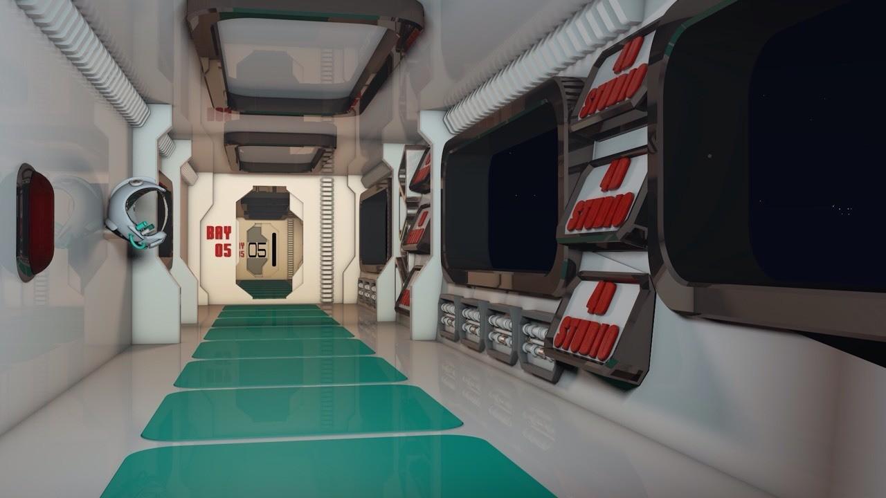 Hall SpaceShip 4D Studio