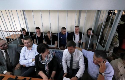 Russian court extends arrest of a group of Ukrainian sailors