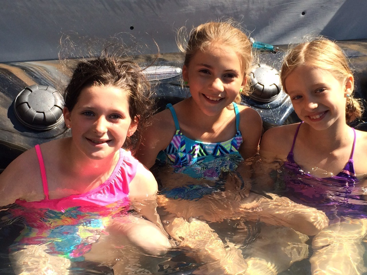 Hanging in the hot tub with my BFFS