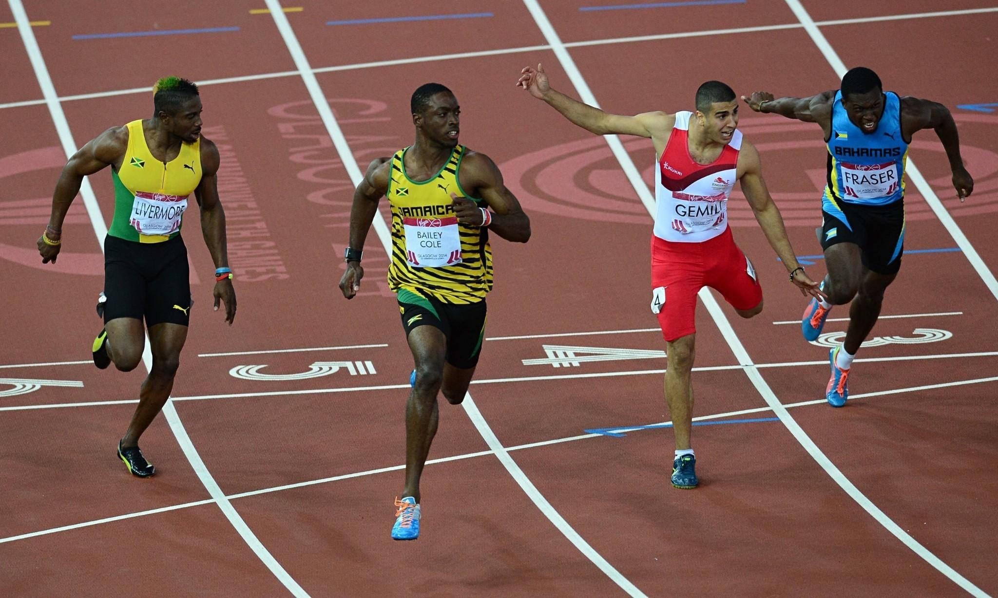 Commonwealth Games: Adam Gemili wins 100m silver behind Bailey-Cole