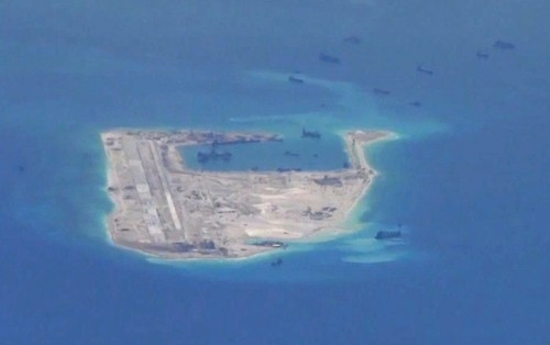 U.S. sees China boosting military presence after island-building spree