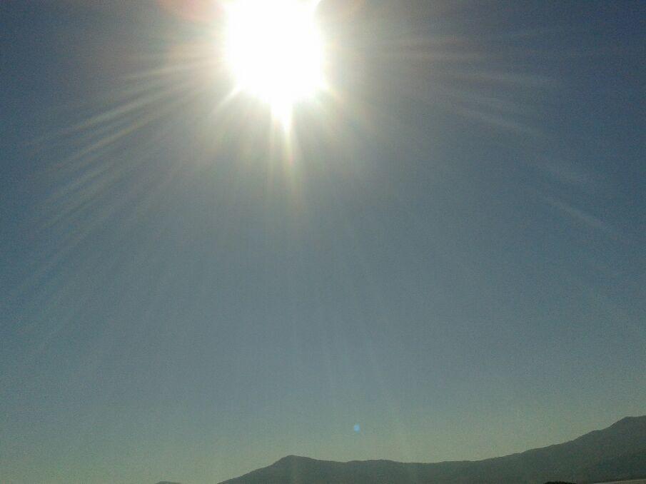 Céu limpo no mar de Siriú SC