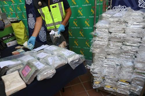 Las incautaciones de cocaína en Europa alcanzan una cifra récord