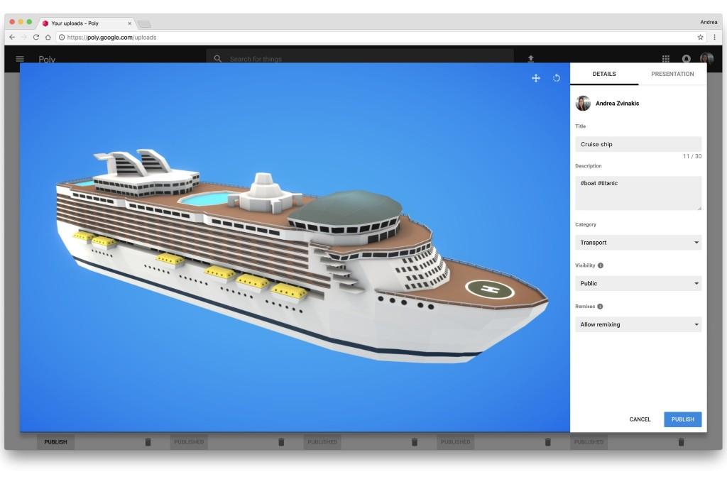 Google is launching an AR and VR object library called Poly