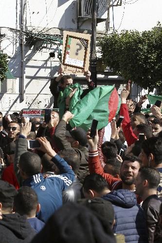 Protests in Algeria against president's bid for 5th term