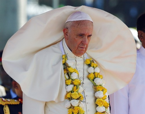 Pope Francis in Asia: Day 1 In Pictures