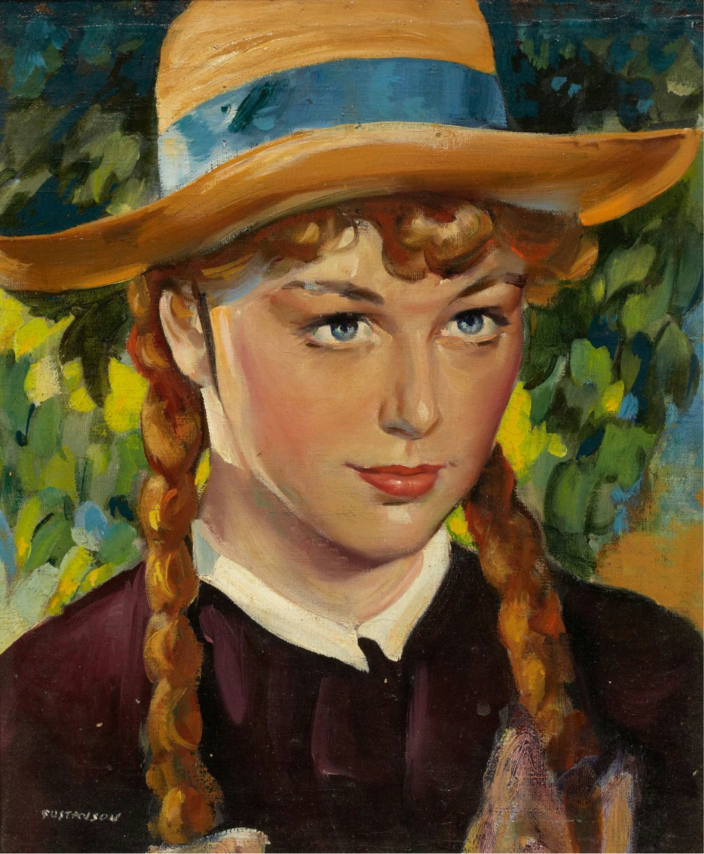 'Anne Shirley' in 'Anne of Green Gables' Illustration by Lealand R. Gustavson, American, 1894 - 1966