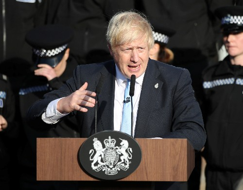British PM Johnson visits Scotland as electioneering begins early