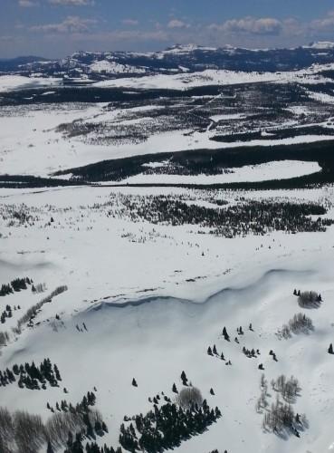 A huge snow ridge south of Wolf Creek Pass, Colorado