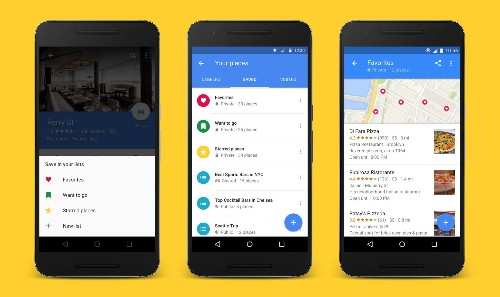 Google Maps lets you save and share favorite places with launch of Lists