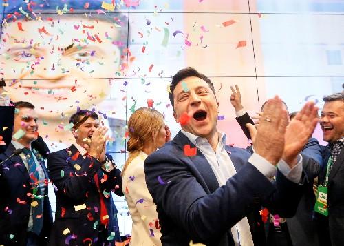 Комик Зеленский выигрывает президентские выборы на Украине