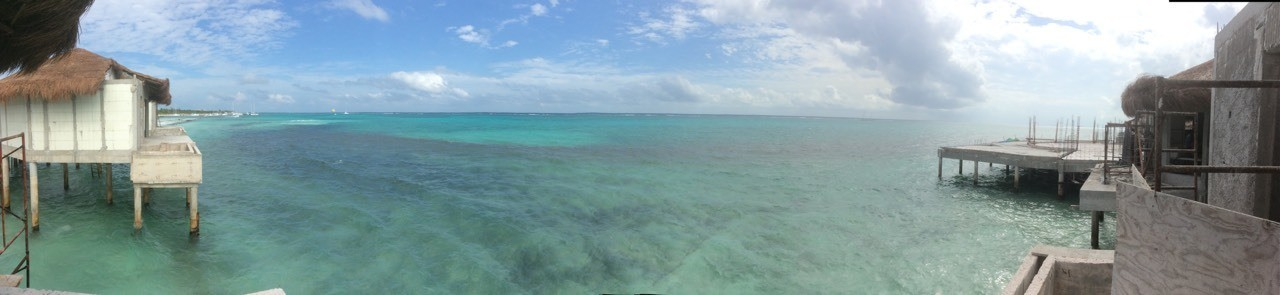 View from the Over Water Suites at El Dorado Maroma