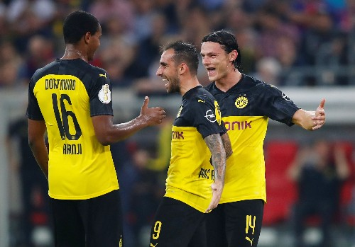 Soccer: Dortmund work up a sweat to move past Uerdingen in German Cup