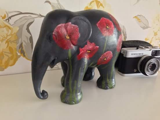 Inspired by the London elephant parade, I painted one for a friend....