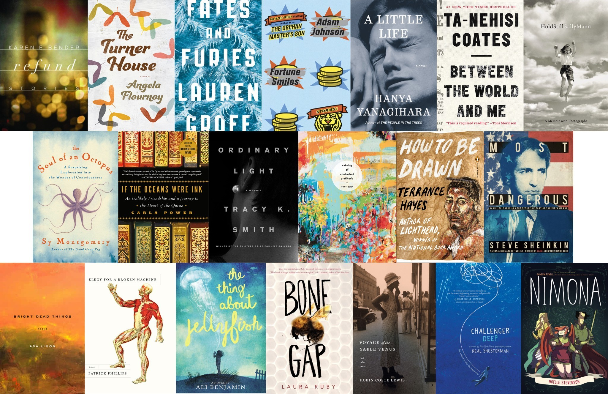 Finalists Unveiled For This Year's National Book Awards