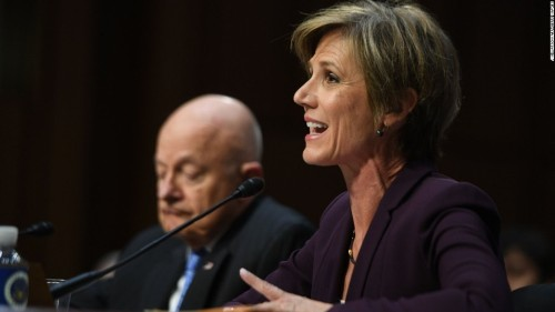 Sally Yates says she warned White House that Flynn was a blackmail risk