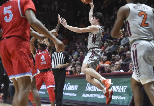 Virginia Tech set 3-pointer record, routs Delaware State