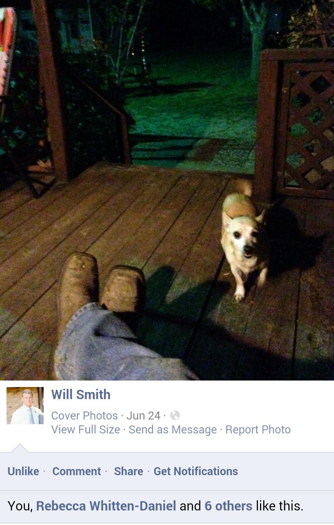 Will & Pico~ Marie's porch