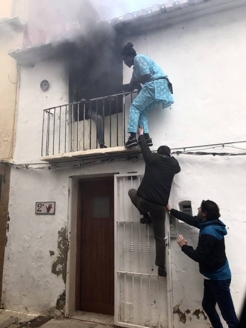 Migrant hailed after saving wheelchair-bound man from burning building in Spain