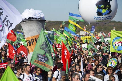 Thousands protest felling German forest to expand coal mine