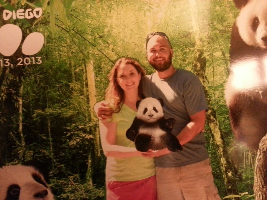Owen, me and our baby panda, Bert :) We are such proud imaginary parents, lol :)