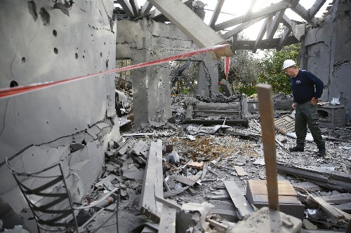 The Latest: Israel hits Gaza Strip targets after rocket fire