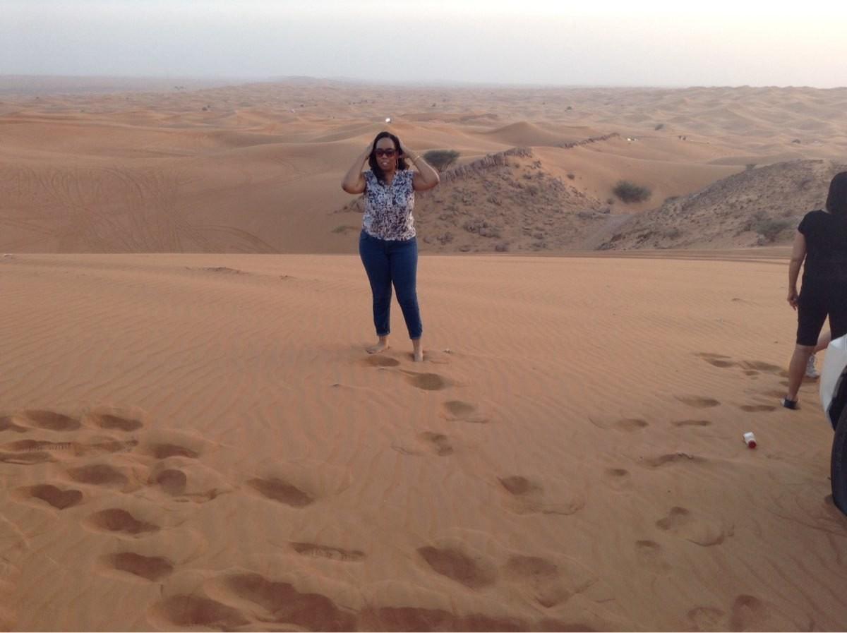 In Abu Dhabi, Dubai, on a desert safari.
