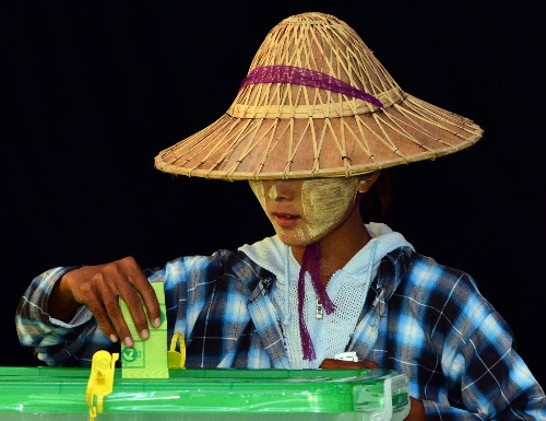 Historic Election Day in Myanmar: Pictures