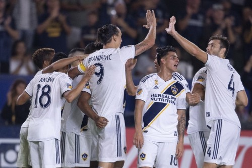 Ibrahimovic nets three as Galaxy roll over Sporting KC