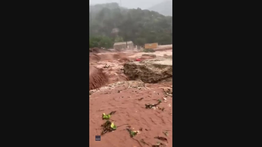 Beach Collapses as Cyclone Hits Greece