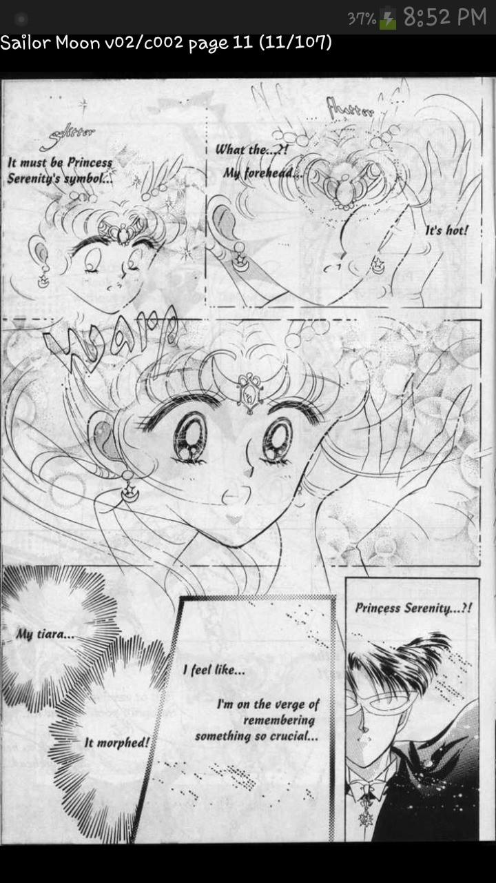 Sailor Moon manga strip