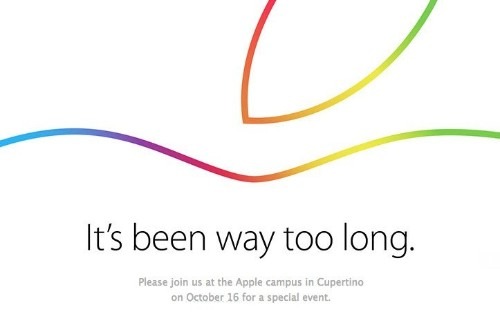 Apple Sends Out Invites For October 16 iPad And Mac Event